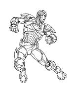 Iron man da colorare 9