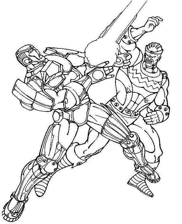 Iron man da colorare 10