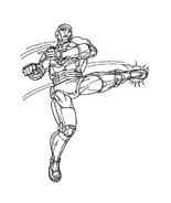 Iron man da colorare 11