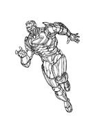 Iron man da colorare 12