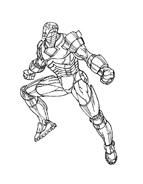 Iron man da colorare 14