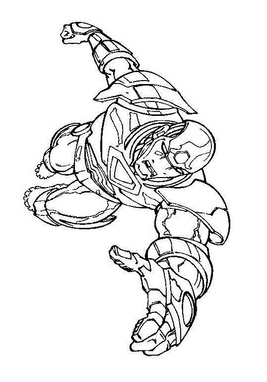 Iron man da colorare 16