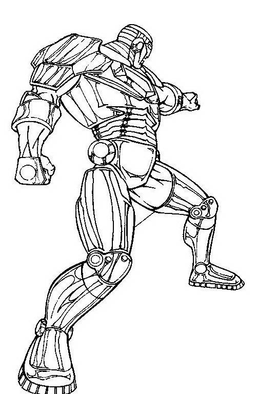 Iron man da colorare 17