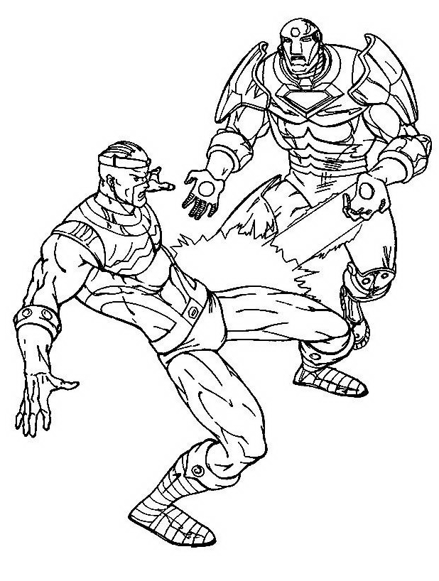 Iron man da colorare 19