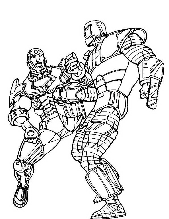 Iron man da colorare 20