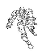 Iron man da colorare 21