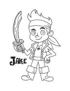 Jake e i pirati dell'Isola che non c'è da colorare