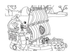 Jake e i pirati dell'Isola che non c'è da colorare 9