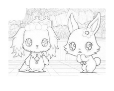 Jewelpet da colorare 4