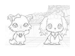 Jewelpet da colorare 5