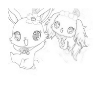 Jewelpet da colorare 6