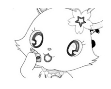 Jewelpet da colorare 12