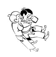Judo da colorare 9