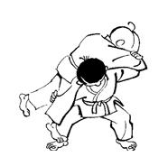 Judo da colorare 10
