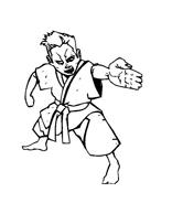 Judo da colorare 16