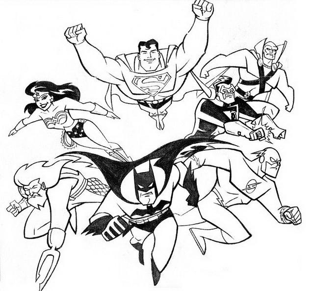 Justice league da colorare