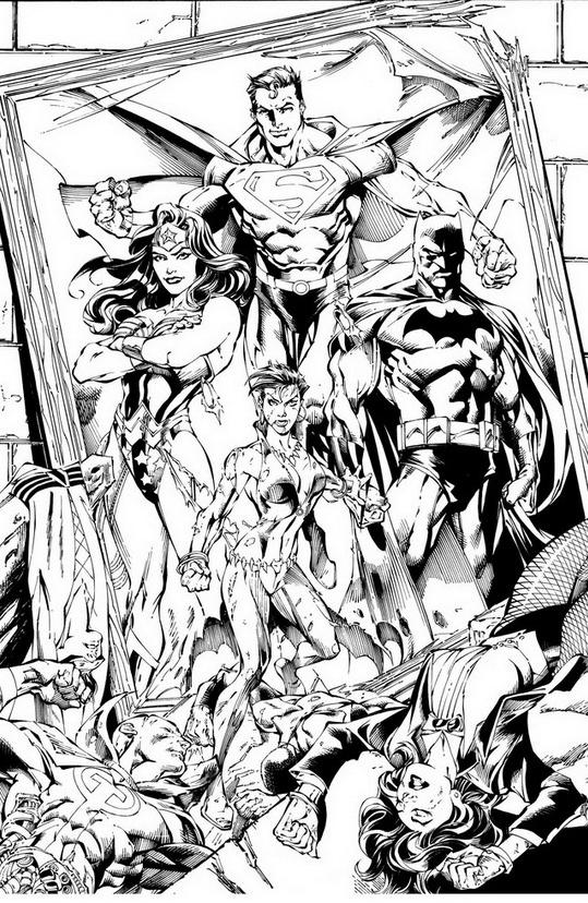 Justice league da colorare 2