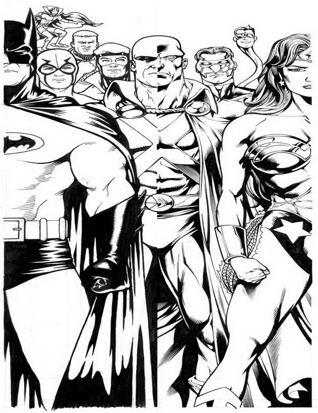 Justice league da colorare 5