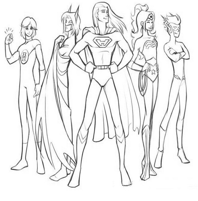 Justice league da colorare 9