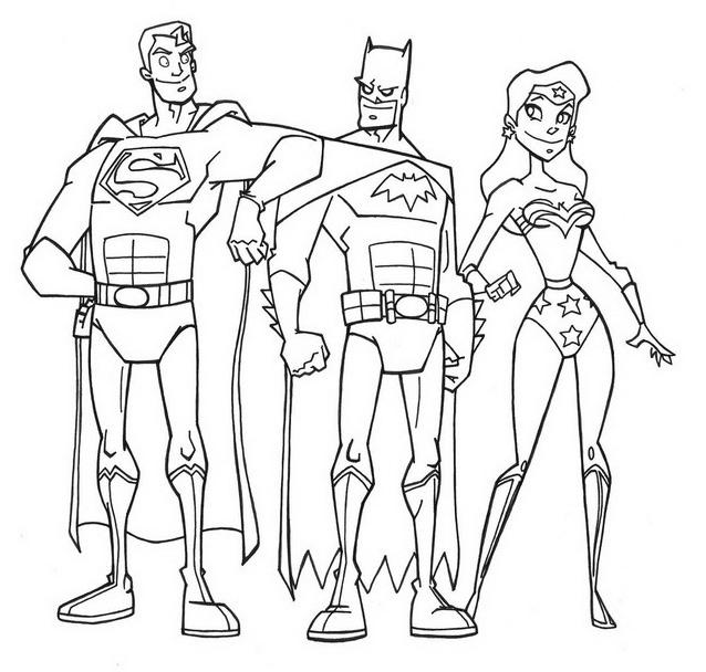 Justice league da colorare 10