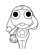 Keroro da colorare 2