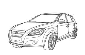 Automobile da colorare 299