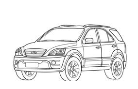 Automobile da colorare 302
