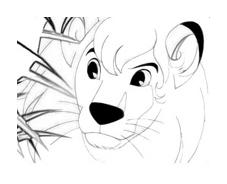 Kimba, il leone bianco da colorare 4