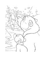 Koda fratello orso da colorare 5