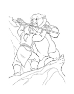 Koda fratello orso da colorare 14
