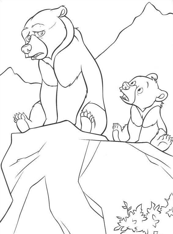 Koda fratello orso da colorare 72