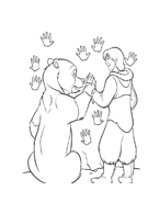 Koda fratello orso da colorare 111