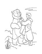Koda fratello orso da colorare 146