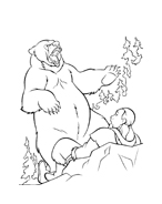Koda fratello orso da colorare 175