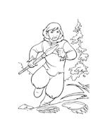 Koda fratello orso da colorare 177
