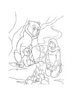 Koda fratello orso da colorare 180