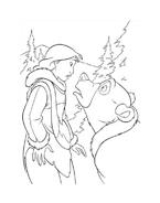 Koda fratello orso da colorare 196