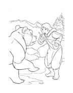 Koda fratello orso da colorare 204