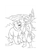 Koda fratello orso da colorare 207
