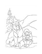 Koda fratello orso da colorare 211