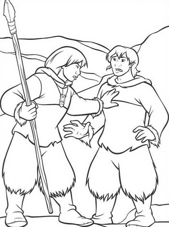 Koda fratello orso da colorare 218