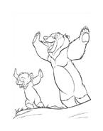 Koda fratello orso da colorare 224