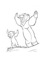 Koda fratello orso da colorare 237