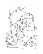Koda fratello orso da colorare 273