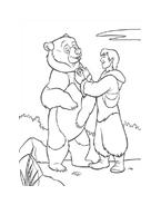 Koda fratello orso da colorare 284