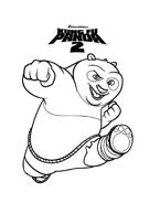 Kung fu panda da colorare 38