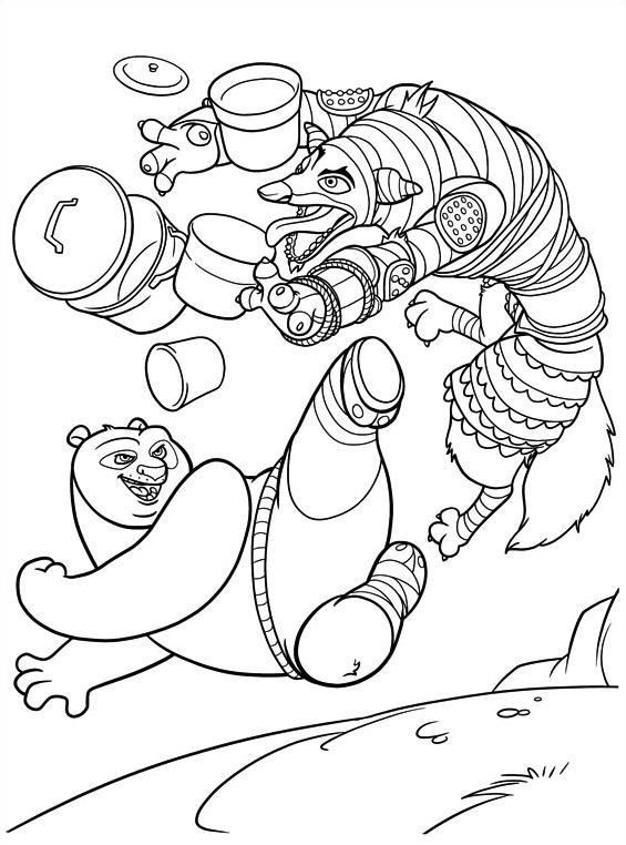 Kung fu panda da colorare 42