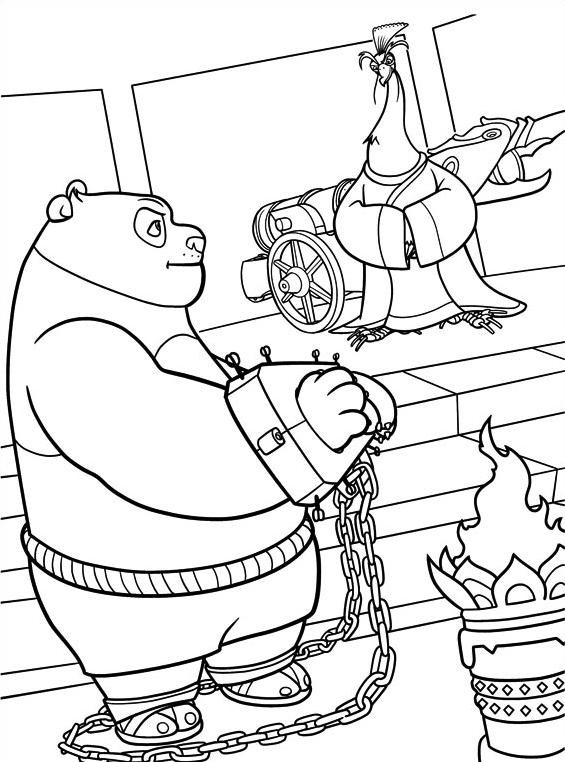 Kung fu panda da colorare 56