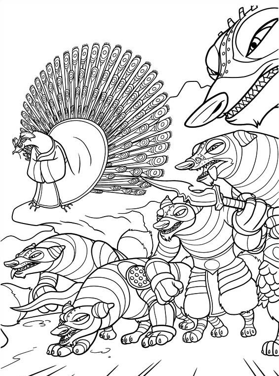 Kung fu panda da colorare 61