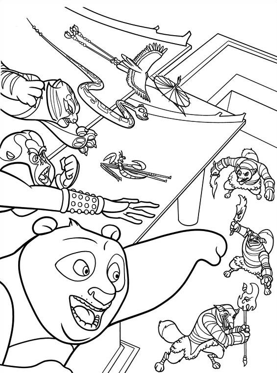 Kung fu panda da colorare 62